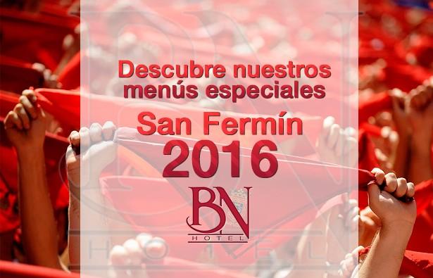 Menu San Fermín 2016